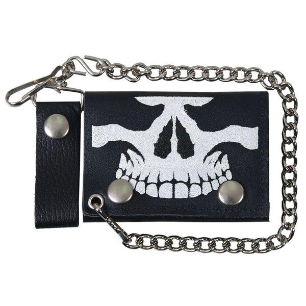 Wallet - skull face