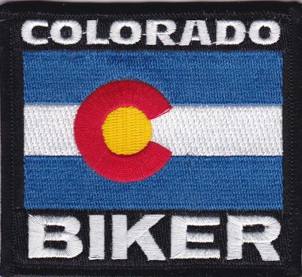 Patch - Colorado biker flag