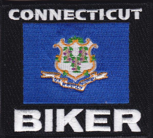 Patch - Connecticut biker flag