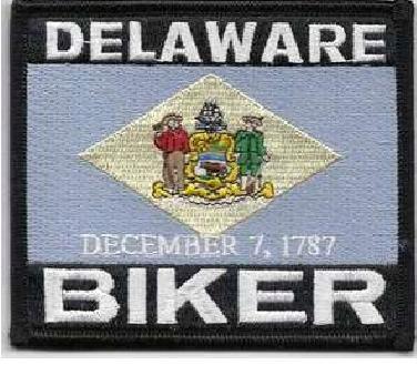 Patch - Delaware biker flag