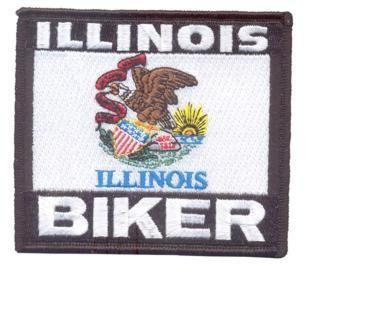 Patch - Illinois biker flag