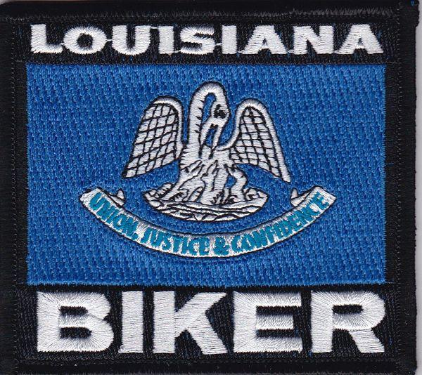 Patch - Louisiana biker flag