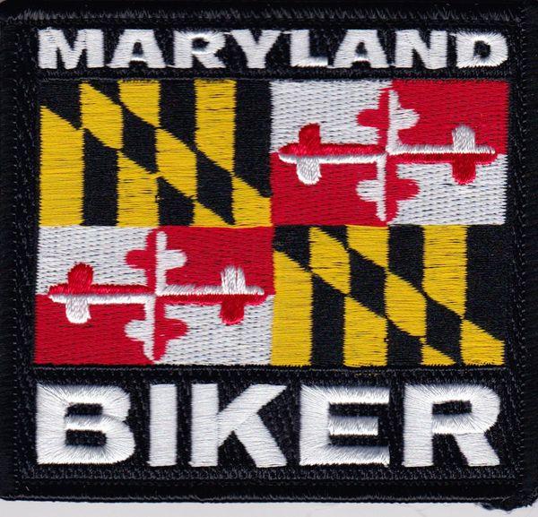 Patch - Maryland biker flag