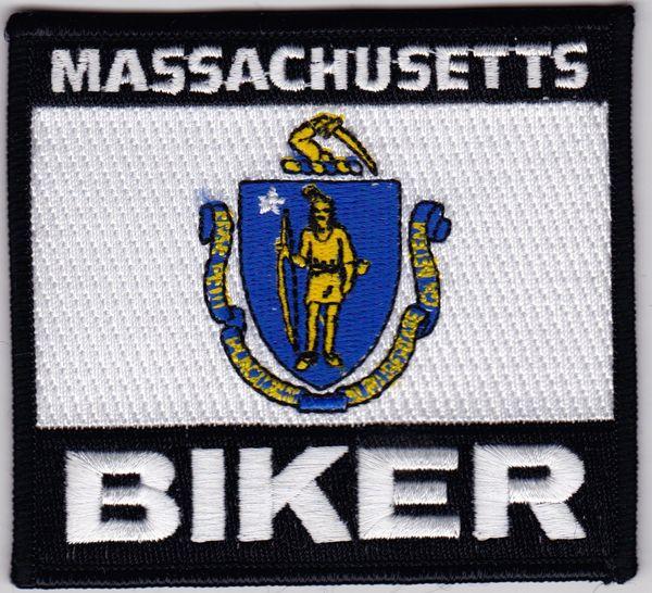 Patch - Massachusetts biker flag