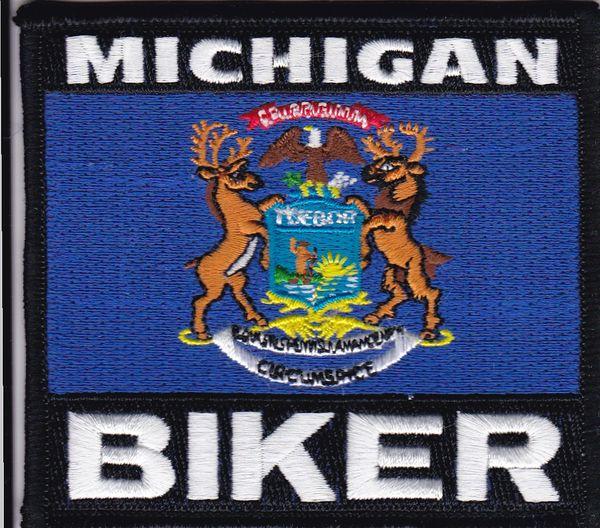 Patch - Michigan biker flag