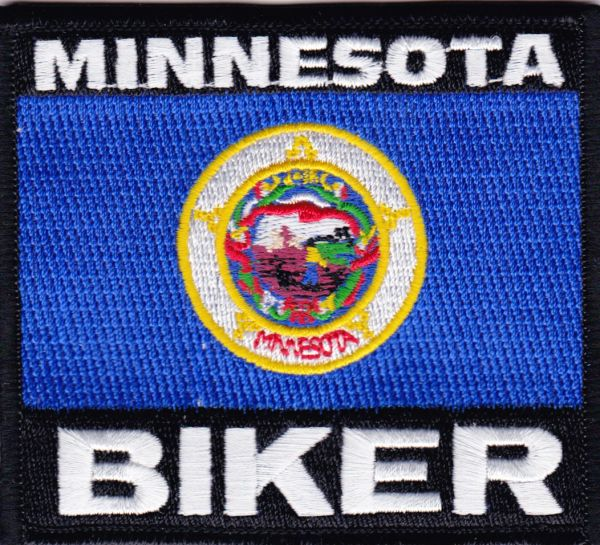 Patch - Minnesota biker flag