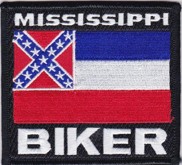 Patch - Mississippi biker flag