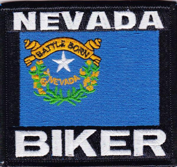 Patch - Nevada biker flag
