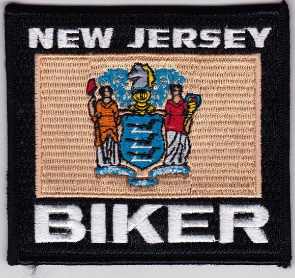 Patch - New Jersey biker flag