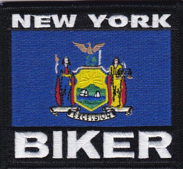 Patch - New York biker flag