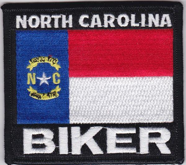 Patch - North Carolina biker flag