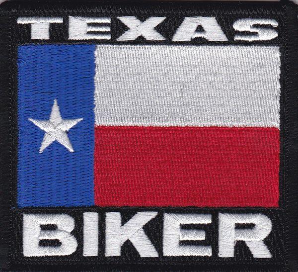 Patch - Texas Biker flag