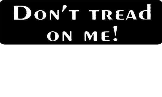 Helmet sticker - don't tread on me