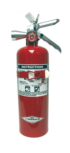 "AMEREX B386T HALOTRON I ""CLEAN AGENT"" EXTINGUISHER WITH VEHICLE BRACKET - 5 LB"