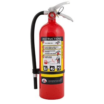 BADGER 21007866 5lb. ABC DRY CHEMICAL MULTI-PURPOSE FIRE EXTINGUISHER WITH WALL BRACKET- 5 LB