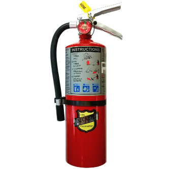 BUCKEYE 10914 5lb. ABC DRY CHEMICAL MULTI-PURPOSE FIRE EXTINGUISHER WITH WALL BRACKET- 5 LB