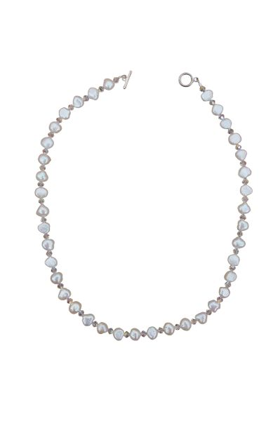 Fresh Water Pearl & Swarovski Crystal Necklace
