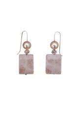 Rose Quartz & Fresh Water Pearl Earrings
