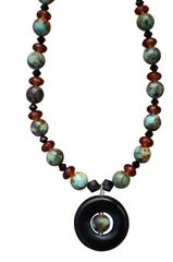 Variquoise & Blackstone Necklace