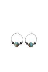 Variquoise & Swarovski Crystal Earrings