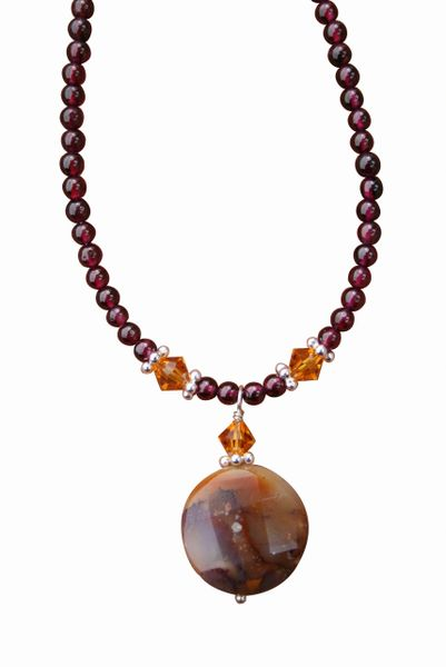 Oregon Opal & Garnet Necklace