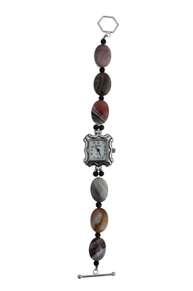 Botswana Agate & Crystal Watch