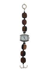 Tiger Ebony Wood & Crystal Watch
