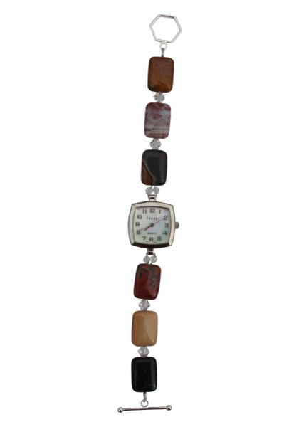 Ocean Jasper & Swarovski Crystal Watch