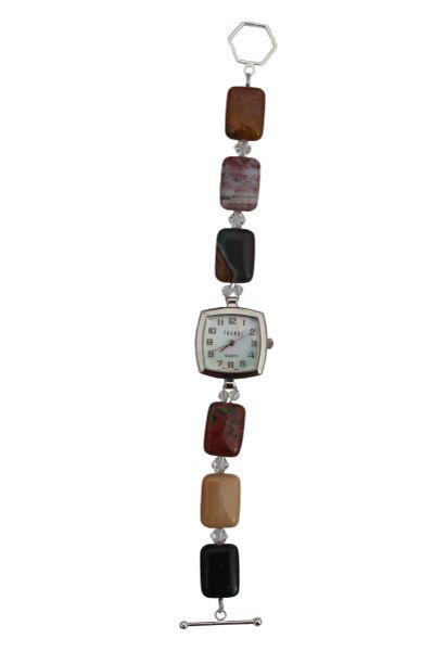 Ocean Jasper & Swarovski Crystal Watch