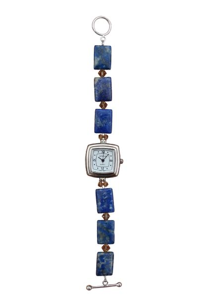 Lapis & Swarovski Crystal Watch