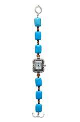 Nevada Pilot Mountain Blue Turquoise & Swarovski Crystal Watch