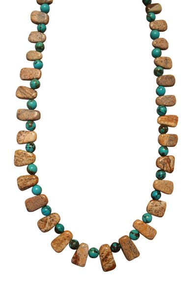 Nevada Turquoise & Picture Jasper Necklace
