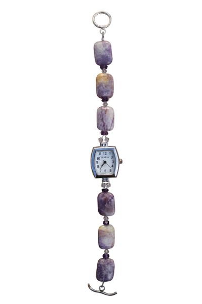 Purple Crazy Agate & Amethyst Watch