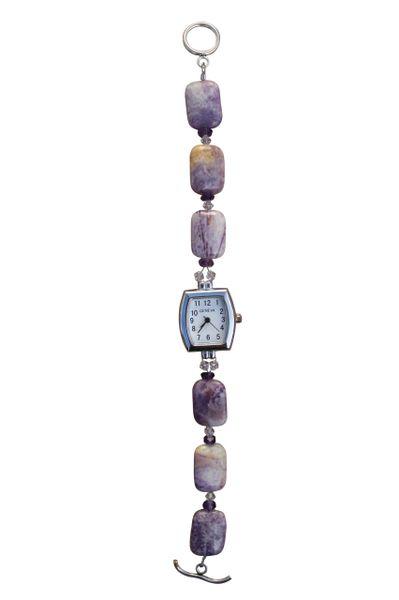 Purple Crazy Agate & Amethyst Watch