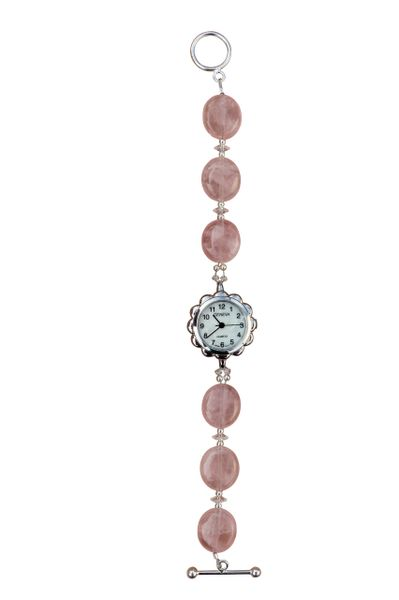 Rose Quartz & Swarovski Crystal Watch