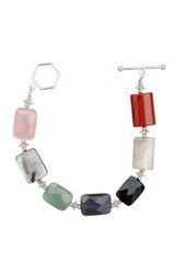 Gemstone Medley & Swarovski Crystal Beaded Bracelet
