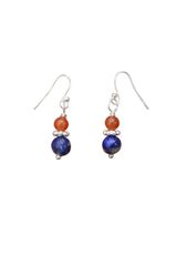 Lapis & Red Aventurine Earrings
