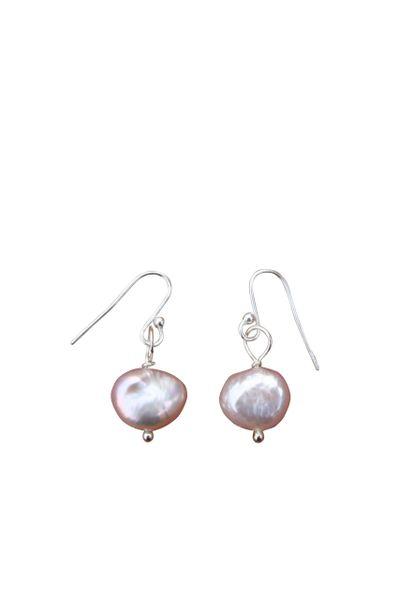Pink Fresh Water Pearl & Sterling Silver Earrings