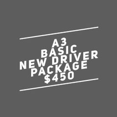 A3. Adult Basic New Driver Package