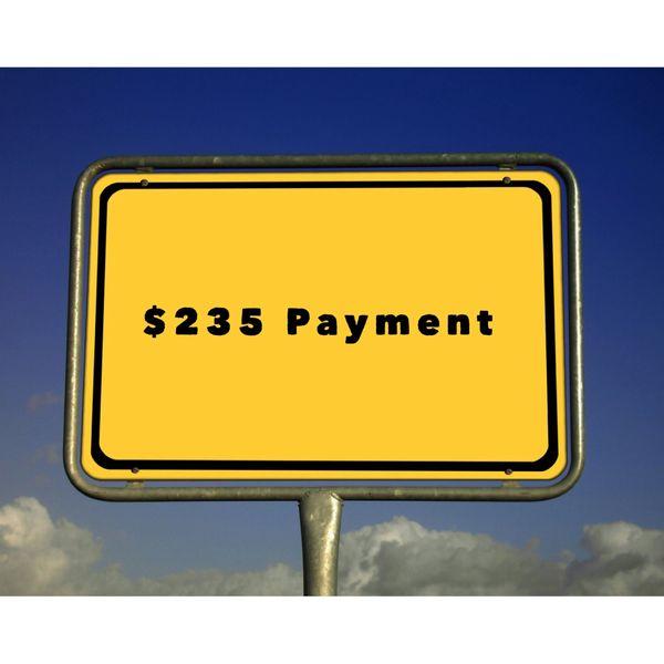 $235.00 Paymnet