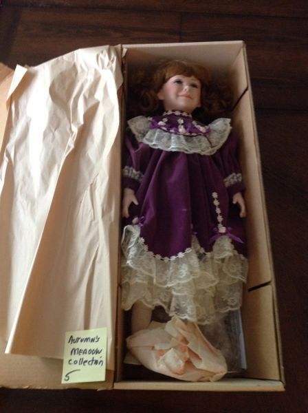 SOLD Autumn's Meadow Hand Crafted Porcelain Doll
