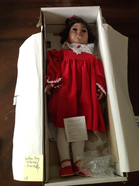 William Tung Collection Scarlett #25348 Porcelain Doll