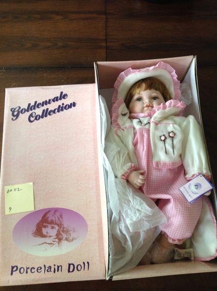 SOLD Goldenvale Collection Porcelain Doll Rose #20112