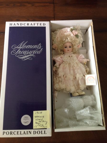 Theresa World Gallery Porcelain Hand Crafted Doll