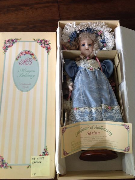 SOLD Cuddling Love Collection HandCrafted Porcelain Doll