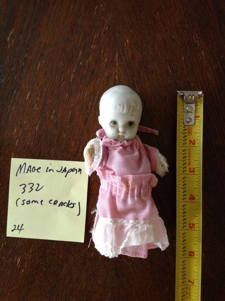 Japanese Porcelain Doll #2332 (has a crack)