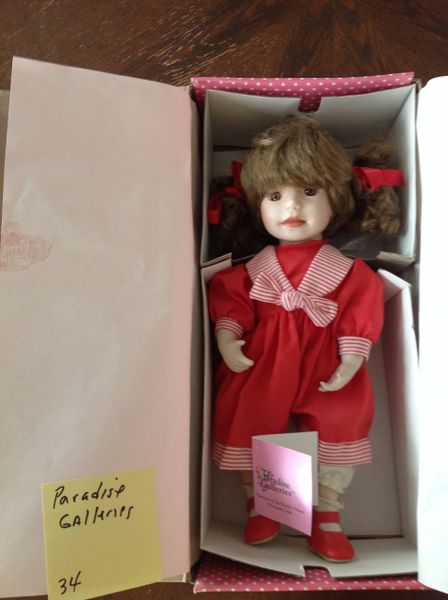 Treasury Collection Paradise Galleries HandCrafted Porcelain Doll