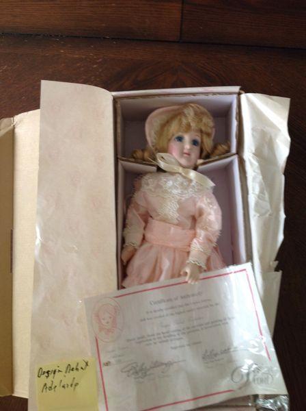 Design Depot HandCrafted Porcelain Doll Adelaide