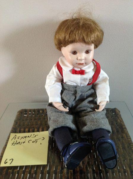Astan's Haircut Porcelain Doll