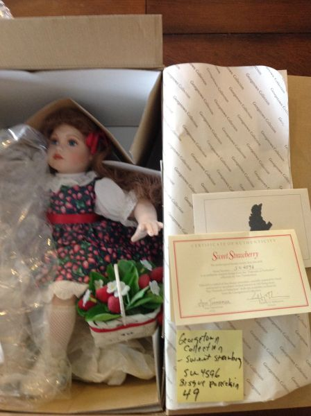 Georgetown Collection Bisque Porcelain Doll